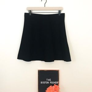 ZARA Black Thick Knit Skirt